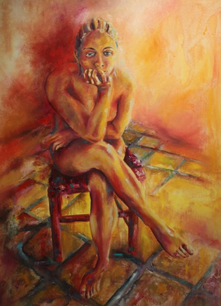 "I am prepared   ""Trusting in my own ability and God-given talent to manifest what I want "" 101x76cm  R9500-00"